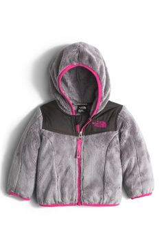 b83b2472a9 The North Face 'Oso' Fleece Hooded Jacket (Baby Girls) available at #