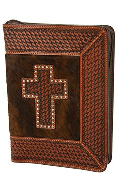 Western Gifts for Cowboys and Cowgirls Cowgirl Jewelry, Western Jewelry, Leather Crafts, Leather Projects, Leather Bible Cover, Horse Halters, Bible Covers, Leather Carving, Leather Pattern