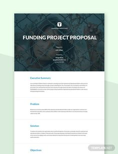 Instantly Download Funding Project Proposal Template, Sample & Example in Microsoft Word (DOC) Format. Available in US Letter Sizes. Quickly Customize. Easily Editable & Printable. Project Proposal Template, Proposal Templates, Software Projects, Research Projects, Executive Summary, Problem And Solution, Word Doc, Microsoft Word, Letter Size