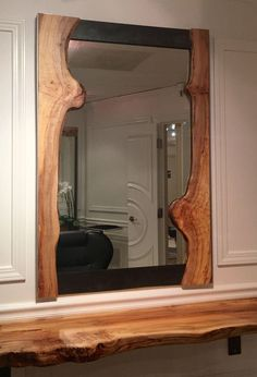 Live Edge Frame Mirror on Chairish.com