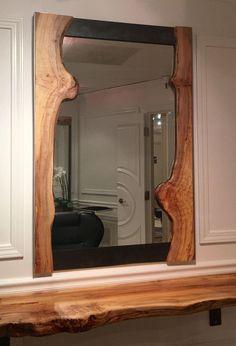 Live Edge Frame Mirror on Chairish.com
