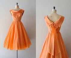 vintage 50s dress / silk 1950s dress / Zanahoria by DearGolden, $238.00