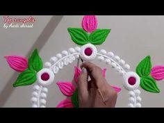 Beautiful Rangoli Designs, Kolam Designs, Special Rangoli, Small Rangoli, Lotus Flower Design, Muggulu Design, Good Morning Happy, Diwali, Make It Yourself