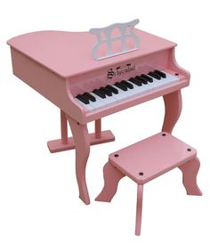 Take a look at this Pink 30-Key Fancy Baby Grand Piano today!