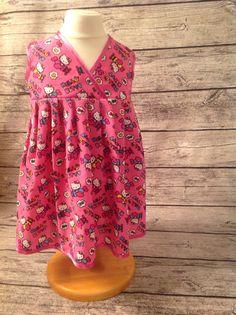 Audrey crossover dress. Pattern by peekaboo pattern shop.