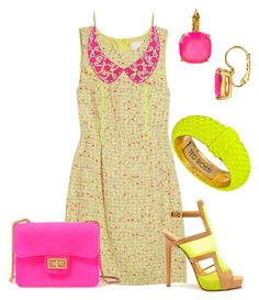 Neón y Fluo by outfits-de-moda2 on Polyvore featuring moda, J.Crew, Forever 21, Ted Rossi, Kate Spade and Aperlaï