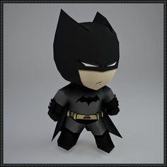DC Comics - Chibi Batman Free Papercraft Download - http://www.papercraftsquare.com/dc-comics-chibi-batman-free-papercraft-download.html