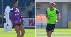 Cristiano Ronaldo and Gareth Bale prove they're match fit with stunning goals in Real Madrid training