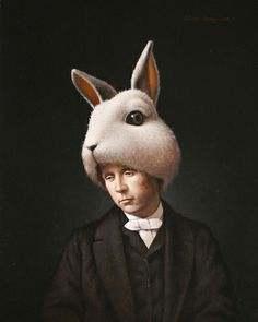Lewis Carrol as the White Rabbit, Steven Kenny