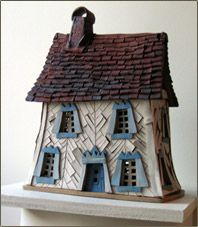 Windy Meadows Pottery--Handbuilt Stoneware Cottages and Candlehouses