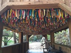 Be sure to leave a wish at the Whispering Winds Covered Bridge.