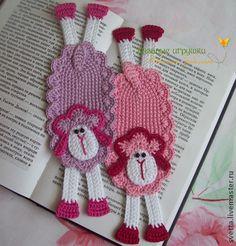 """Закладки для книг ручной работы. Ярмарка Мастеров - ручная работа """"Гламурные овечки"""" вязаные закладки. Handmade."""