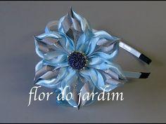 Flor floco de neve - DIY - Fleur flocon de neige - Snowflake flower - YouTube