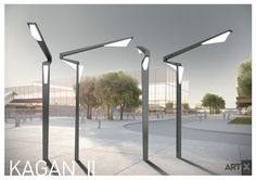 Street lightning production whose color and idea comes from KAGAN combines multi-angle lightning function and form with futuristic effect.