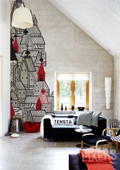 Houses on the Wall... #wallpaper #decal