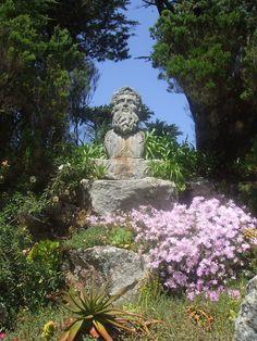 Posiedon in the Abby Gardens, Tresco! Future Travel, Cool Places To Visit, Devon, Cornwall, Mythology, The Good Place, To Go, England, Gardens