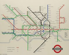 South Kensington's Christie's auction house is offering the chance to acquire iconic London Underground posters direct from the archives of London Transport Museum (LTM). London Map, Old London, Harry Beck, Underground Map, London Transport Museum, London Bridge, Natural History, Transportation, The Past