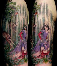 #tattoo, by Esther Garcia, butterfat studios, #snowwhite