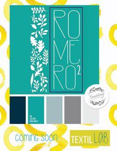 #RaquelRomero con 'Romero al Cuadrado' en #trendology by #textillab   #diseñotextil #ibero Ro 2, Coming Soon, Color, Textile Design, Colour, Colors