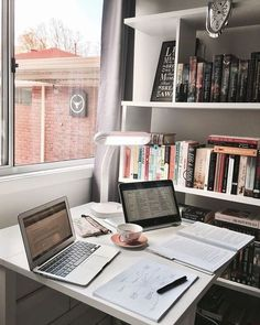 𝓼𝓾𝓼𝓪𝓷𝓼𝓲𝓷𝓼𝓹𝓲𝓻𝓪𝓽𝓲𝓸𝓷studying - studyblr - inspiration - school - college - high school - finals - back to school - inspo - motivation - desk - interior - home - organized - cute - vsco - Study Areas, Study Space, Study Rooms, School Motivation, Study Motivation, Homework Motivation, Motivation Pictures, Zones D'étude, Studio Decor