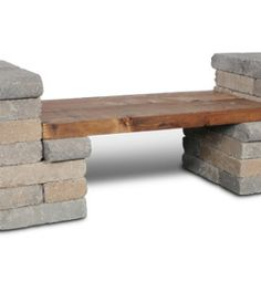 easy brick bench for fire pit
