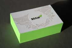 Edge painted letterpress business cards