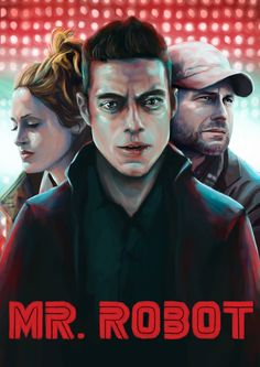 [No spoilers] Mr. Robot poster made by myself #mrrobot #tv #painting