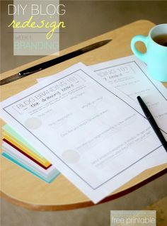 DIY Blog Branding Printable