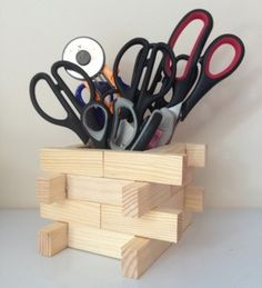 How To Recycle Wooden Jenga Blocks Into A Desk Tidy Pot Tutorial