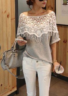 Lace Hollow T-Shirt