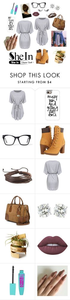 """""""Lazy with a Bit of Effort"""" by melissawronko on Polyvore featuring Casetify, Spitfire, Timberland, Zodaca, MICHAEL Michael Kors and Lime Crime"""