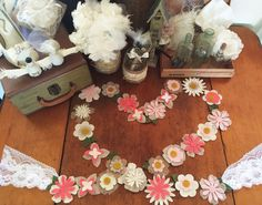Flower Garland, Wedding Garland, Wedding Decor, Vintage Wedding, Wedding, Vintage, Wedding Banner, Vintage Love, Garland, Banner, Felt by TheLilFeltShoppe on Etsy https://www.etsy.com/listing/231558395/flower-garland-wedding-garland-wedding