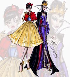 #Hayden Williams Fashion Illustrations #Princess vs Villainess by Hayden Williams: Snow White & The Evil Queen