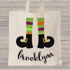 Halloween bag, witch feet custom treat bag