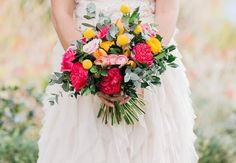 A bouquet that pops from The Little Flower Market