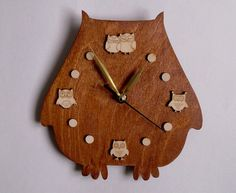 Wall Сlocks Owl Lovers- Rustic Wall Clock- Home and Living- Unique Wall Clock- quartz Movement Handmade Wall Clocks, Rustic Wall Clocks, Unique Wall Clocks, Rustic Walls, Etsy Handmade, Handmade Items, Owl Clock, Clock Decor, Russian Art