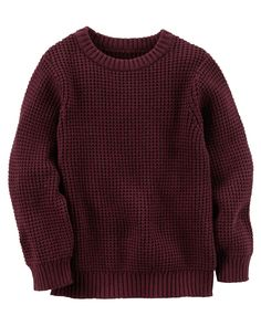 Always a classic, this textured crew neck was made to layer over patterned button-fronts for a picture-perfect style.