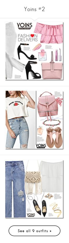 """Yoins #2"" by aida-nurkovic ❤ liked on Polyvore featuring Current/Elliott, Lancôme, By Terry, Lime Crime, Madewell, Chloé, Miss Selfridge, Etro, Tkees and Pearl Dragon"