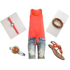 Coral/Brown and summery!!