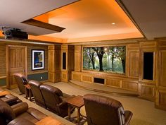 As we are knocking out our basement, Dave is looking to build something very similar to this!  Media Rooms and Home Theaters by Budget : Interior Remodeling : HGTV Remodels