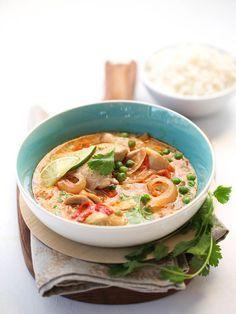 Slow Cooker Thai Chicken Soup | http://FoodieCrush.com