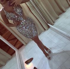 2017 Shinny Major Beaded Short Prom Dresses With Deep V Neck Sequins Beads See Through Mermaid Dresses Evening Wear Sexy Back Pageant Gowns Prom Short Dress, Cute Homecoming Dresses, Dresses Short, Sweet 16 Dresses, Formal Dresses, Wedding Dresses, Short Prom, Bridesmaid Dresses, Dress Prom