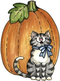 Laurie Furnell - Halloween-cat (599x809 px, printable)