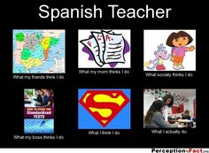 Spanish Teacher... - What people think I do, what I really do - Perception Vs Fact
