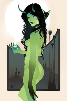 Halloween by Otto Schmidt *You can find Otto schmidt and more on our website.Halloween by Otto Schmidt * Character Illustration, Illustration Art, Tarot, Halloween Pin Up, Otto Schmidt, Character Design References, 3d Character, Character Concept, Animation Character