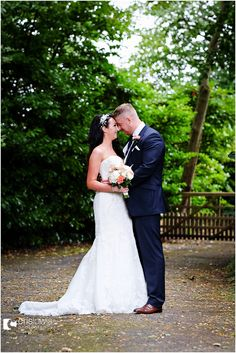 bride and groom at pendrell hall wedding staffordshire