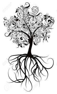 roots , decorative tree
