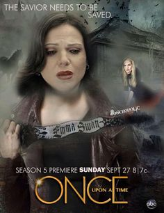 Awesome Regina and Emma (Lana and Jen) on an awesome poster for awesome Once S5  The Savior Needs To Be Saved