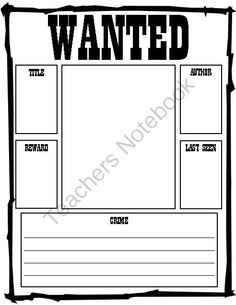 Reading Wanted Poster from Teaching Goodies on TeachersNotebook.com (1 page)