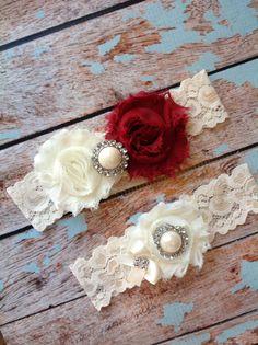 BURGUNDY   wedding garter set / bridal  by FallenStarCoutureInc, $19.99